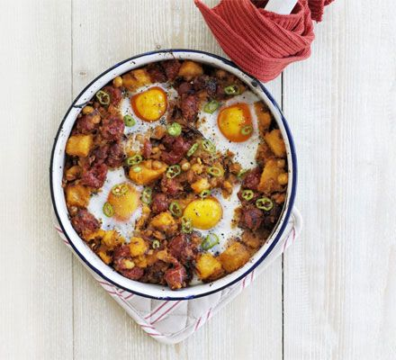 Sweet Potato, Chickpea & Chorizo Hash Recipe on Yummly. @yummly #recipe