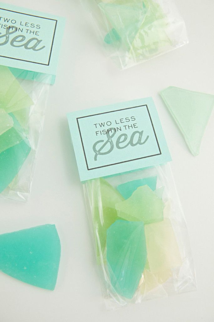 Glass candy favors--perfect for a beach wedding