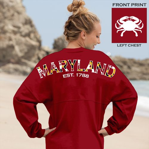 Crabby Maryland Spirit Jersey Red 13