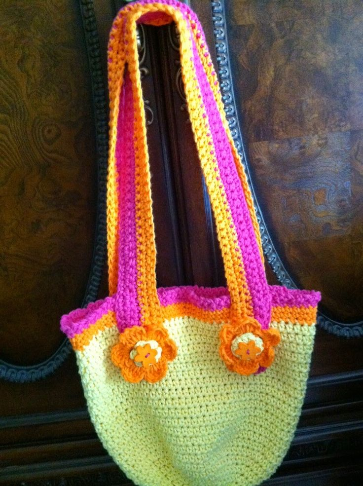 Crochet Bag For Kids : Crochet, Free Pattern, Crochet Bags, Cottages Kids, Crochet Beach Bags ...