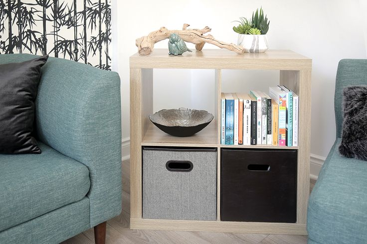 Our Stackable 4 Cube Organizers are a great fit in just about any room! https://www.tidyliving.com/stackable-4-cube-organizer-natural.html?utm_content=buffere897a&utm_medium=social&utm_source=pinterest.com&utm_campaign=buffer #TidyLiving #Shelves #CubeOrganizer #Storage