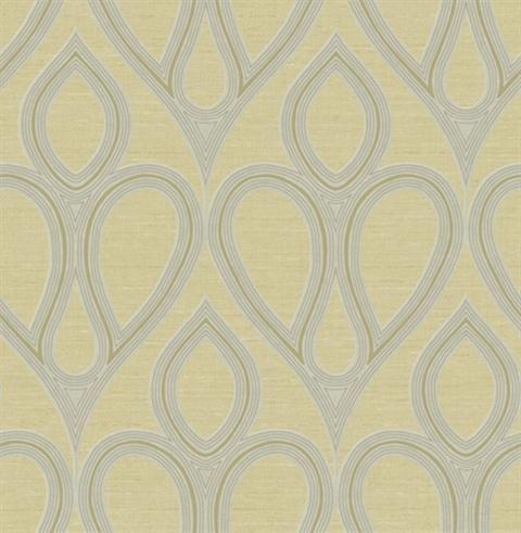 Grey and Yellow Tear Drop Wallpaper, SBK20339