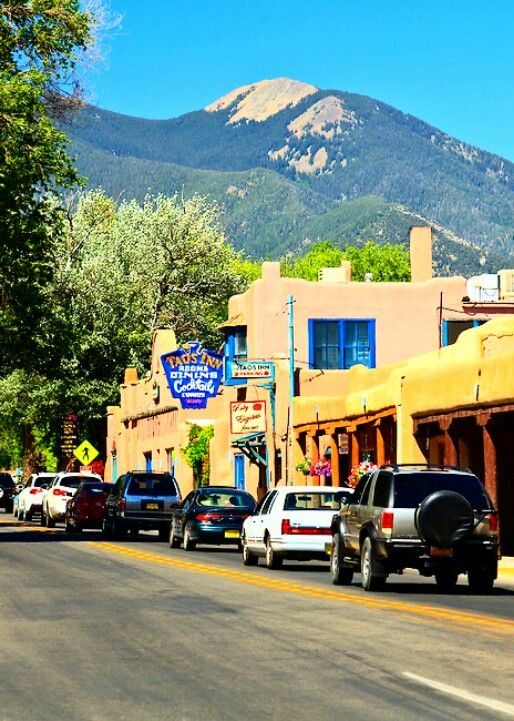 Taos, New Mexico. Tour downtown restaurants, galleries, and historic pueblo nearby.
