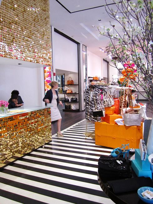 I am aware this is a store but i really want that gold wall and b&w striped floor in my house. Tres tacky or tres awesome?