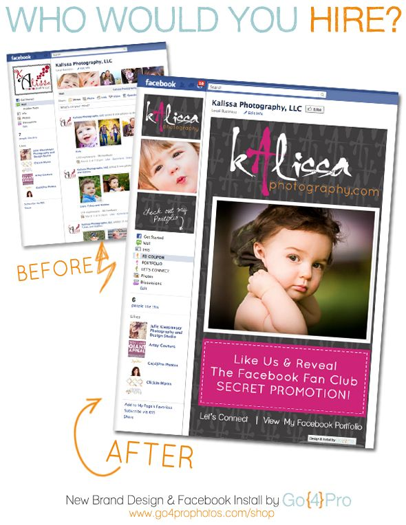 Branding your Facebook Business Page. Created this Custom Design Tab for KP: Business Tips, Photography Business Side, Facebook Photography Page, Facebook Business, Photography Facebook, Fb Photography, Facebook Marketing, Fb Tips
