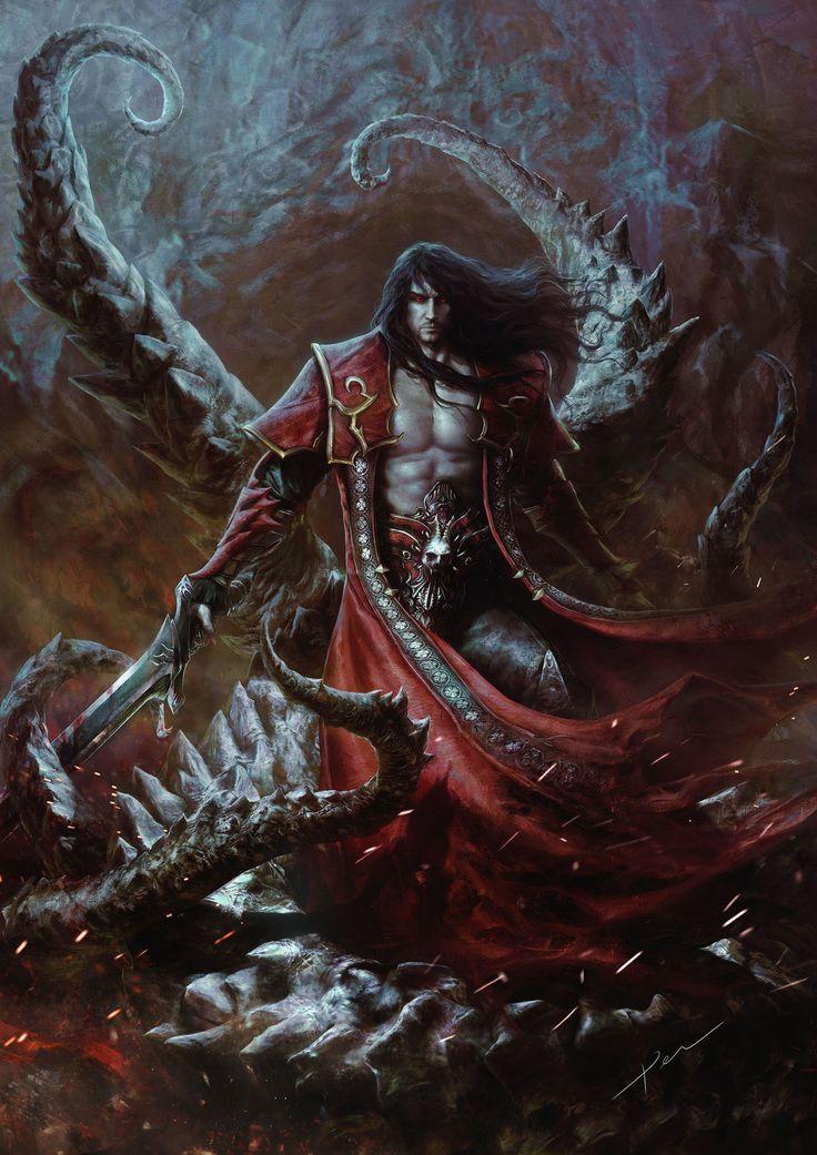 Dracul tentacles, castlevania, gabriel, digital, fantasy, vampire, belmont