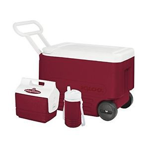 Wheeled-Cooler-Combo-Igloo-Thermos-Lunch-Box-Ice-Chest-Camping-Picnic-Hiking