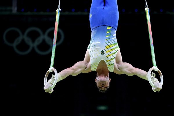Arthur Zanetti of Brazil competes in the Men's Rings Final on day 10 of the Rio 2016 Olympic Games at Rio Olympic Arena on August 15, 2016 in Rio de Janeiro, Brazil.