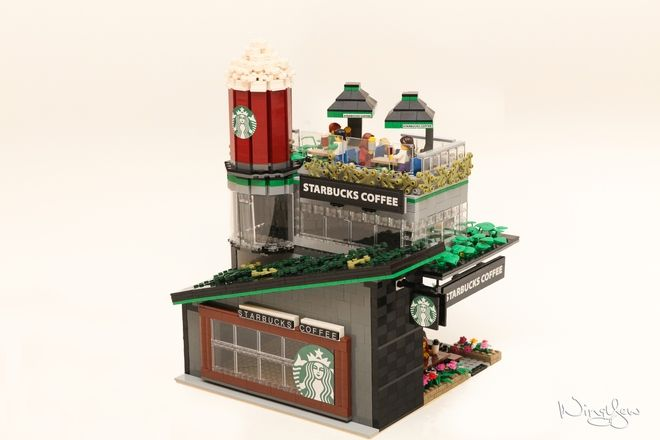 Lego Starbucks Cafe Modular Lego Lego Modular Cool