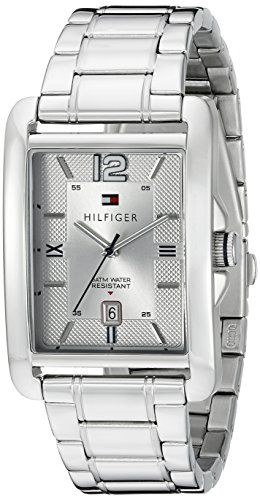 Tommy Hilfiger Mens 1791201 Casual Sport Analog Display Quartz Silver Watch * Details can be found by clicking on the image.