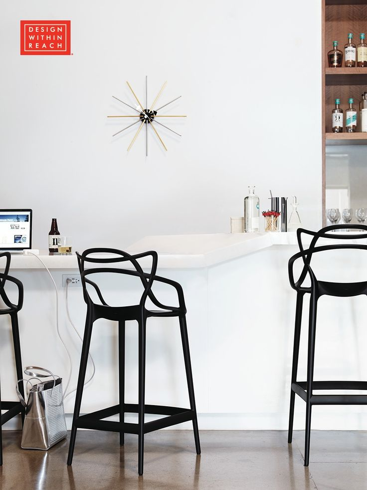 NEW | The popular Masters Chair designed by Phillipe Stark and Eugeni Quitilet for Kartell is now available in bar and and counter height at Design Within Reach.