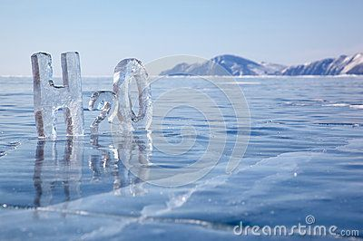 Chemical formula of water H2O by Zastavkin, via Dreamstime