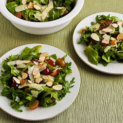 Kalyn's Kitchen®: Recipe for Arugula, Red Grape, and Shaved Manchego Salad (and 10 More Salad Ideas for Thanksgiving)