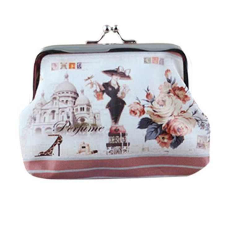 Brand new Women Lady Retro Vintage Small Wallet Hasp printing Coin Purse Clutch Bag Gift 1pcs