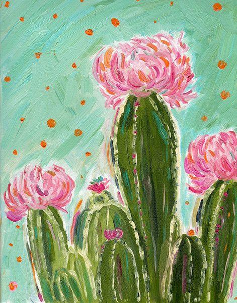 Desert Art Series - Pom Pom Cactus - Original