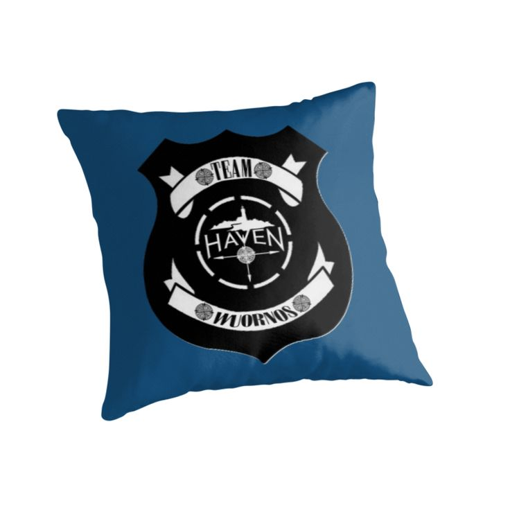 Haven Syfy Inspired Pillow |  Haven Team Wuornos Police Badge Black Logo