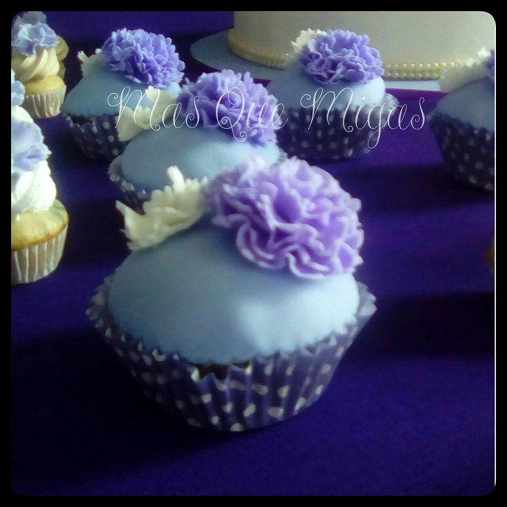 Cupcakes tonos morados