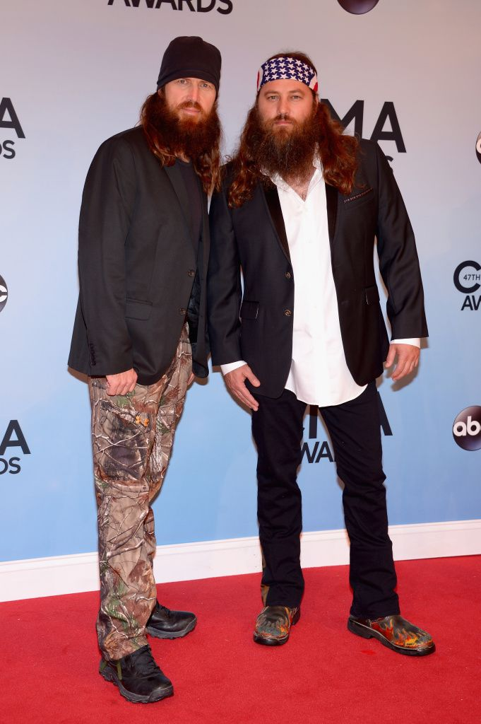 Willie and Jace of the Duck Dynasty crew wear their best outfits. See MORE red carpet looks here>> http://my.gactv.com/cma-awards/gallery.esi?sortOrder=2