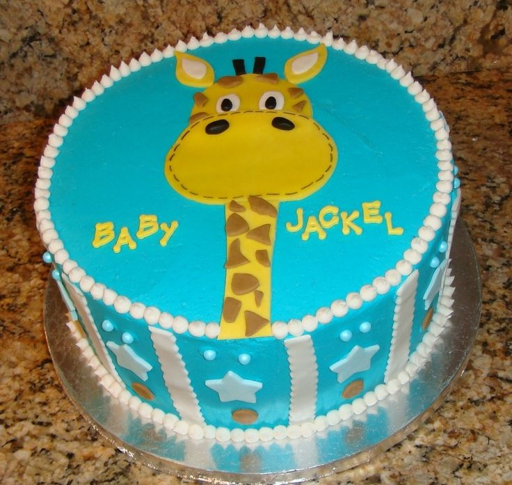 BUTTER CREAM FROSTING BABY SHOWER GIRAFFE CAKES IMAGES | Yellow cake w ...