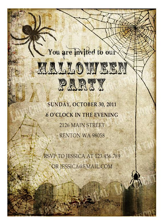 108 Best Halloween Invitations Images On Pinterest
