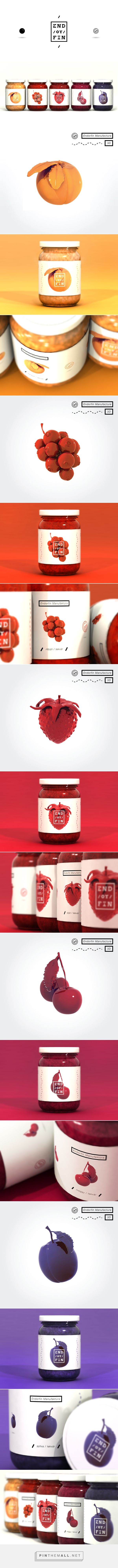 END / OR / FIN - Jam packaging on Behance by Kiss József Gergely curated by Packaging Diva PD. Been looking for the source on this great pin a long time and now I found it.