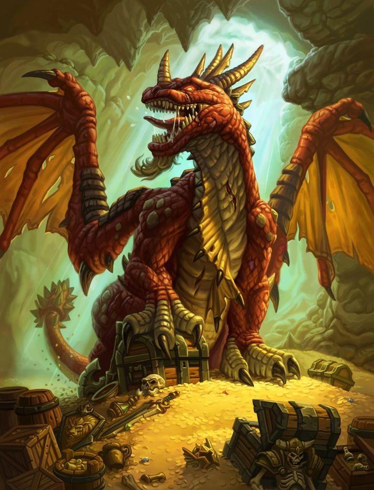 Adult Gold Dragon treasure horde dungeon d&d