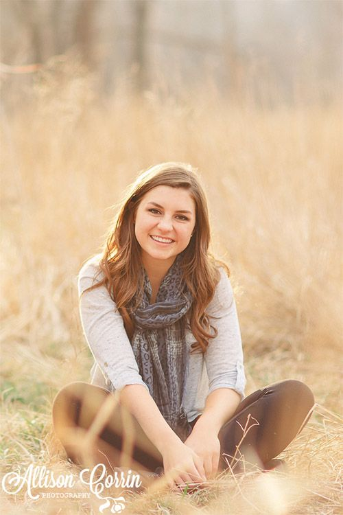 Senior Photography Poses for Girls; I like this one, it looks very relaxed and natural.