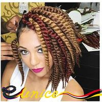Hot Havana Mambo Twist Crochet Braids Hair 12'' 3pcs/pack Synthetic Crochet Braid Hair Senegalese Twists Braiding Hair Extension
