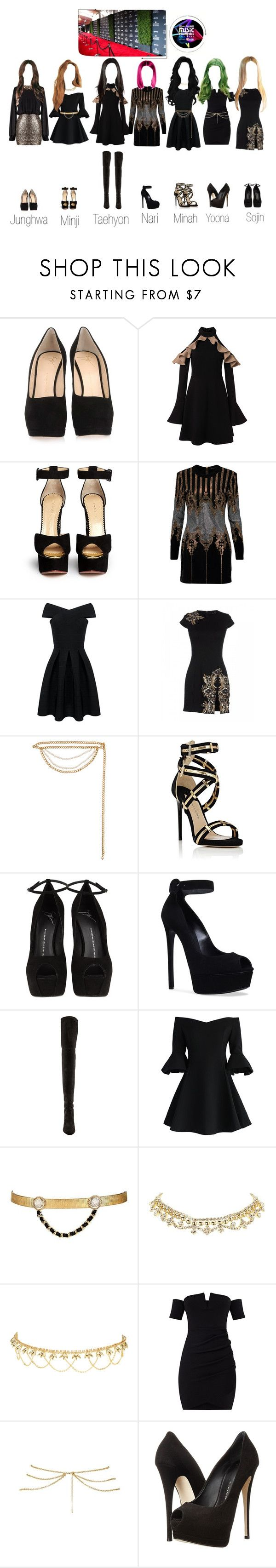 """""""GSG At The MAMA Awards [Red Carped]"""" by sunnie-hr ❤ liked on Polyvore featuring Giuseppe Zanotti, Charlotte Olympia, Balmain, Dsquared2, Magda Butrym, Paul Andrew, Casadei, Stuart Weitzman, Chicwish and Maison Mayle"""