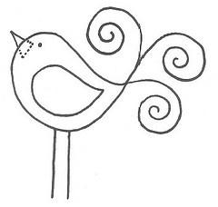 Simple, but cute bird.