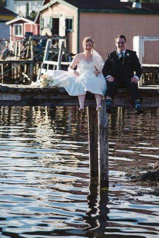 Classic wedding fit for a princess in Ramea, Newfoundland