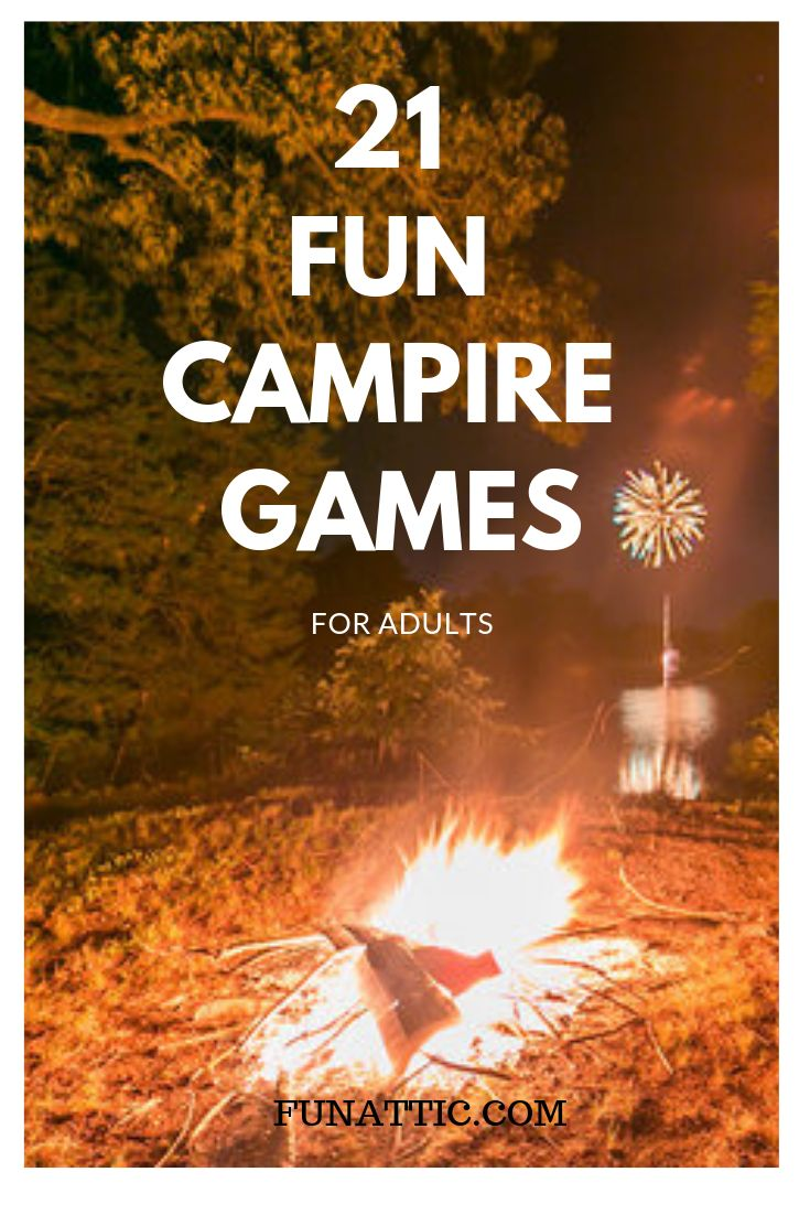 21 Enjoyable Campfire Video games for Adults