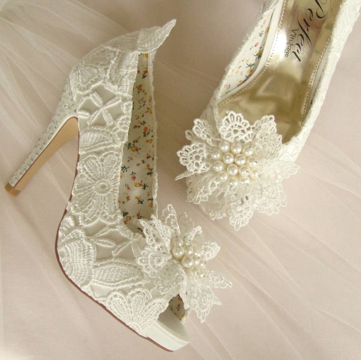 Vintage Style Ivory Lace Wedding Shoe By Beloved Bridal Notonthehighstreet