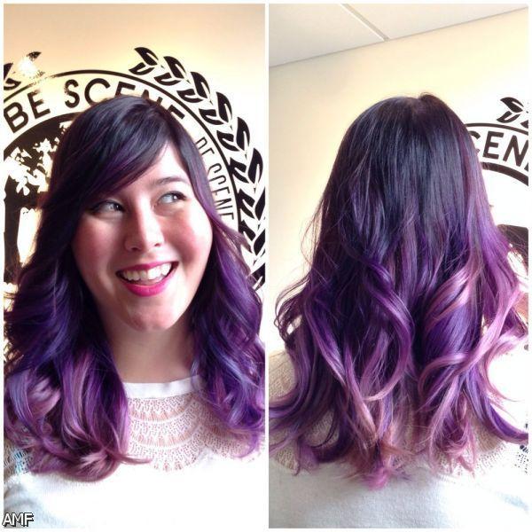 Purple Highlights Hair Color | Dark Brown Hair With Purple Highlights Underneath 2015-2016