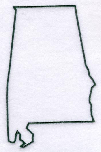 State of Alabama Template | The outline of the state of Alabama