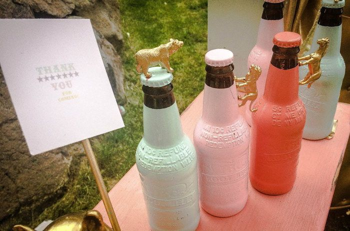 Drink Favors from a Circus + Carnival Baby Shower via Kara's Party Ideas! KarasPartyIdeas.com (4)