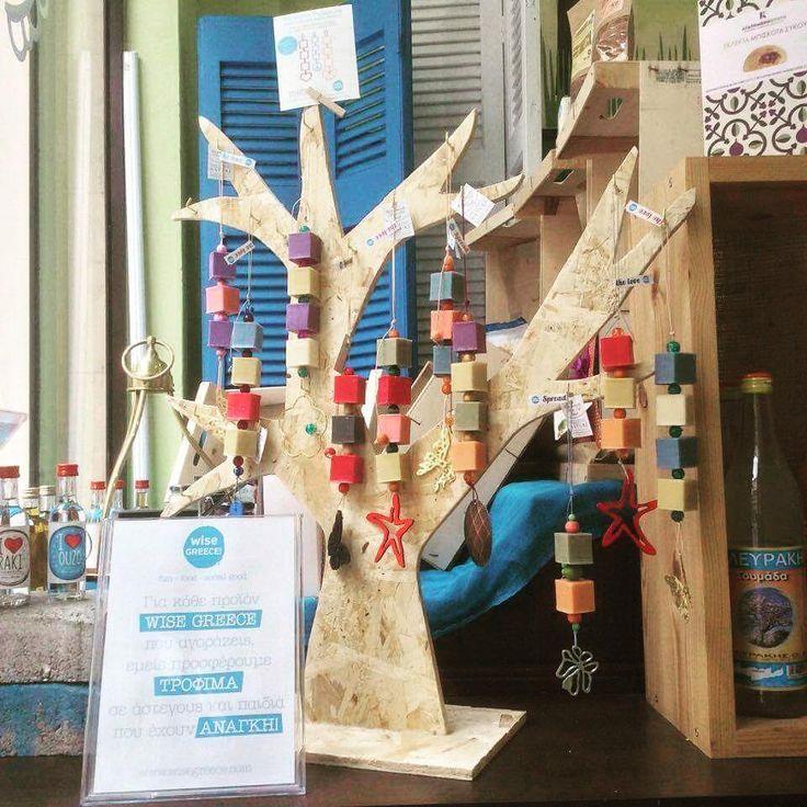 """""""Φύτρωσε"""" στη Malotira Deli, για καλό σκοπό, το δεντράκι με τα χειροποίητα αρωματικά σαπούνια απ' την Hellenic Nature και την Wise Greece.  Spread the love, people !!! #plaka #handmade #gifts #spreadthelove"""