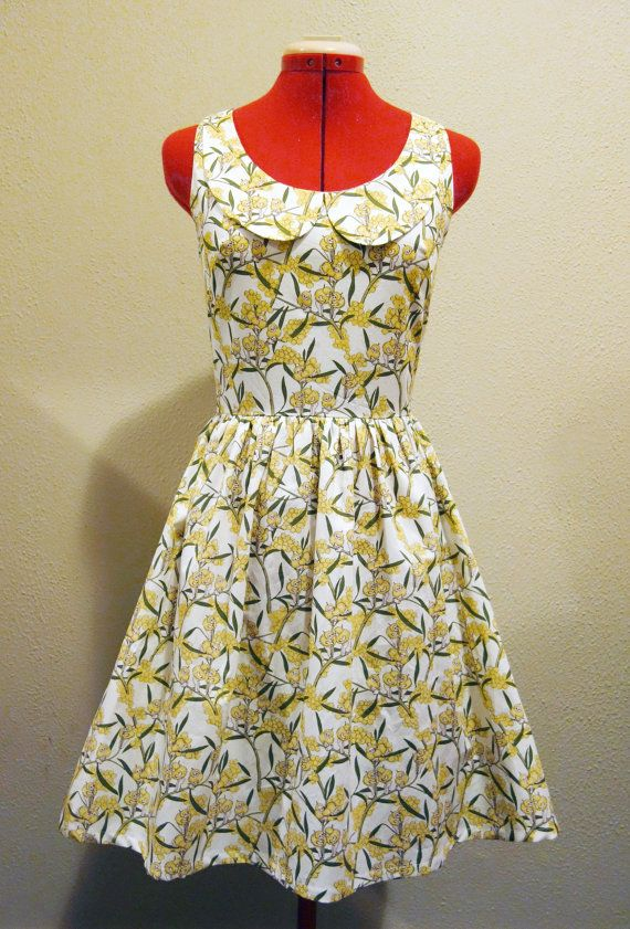 Gumnut Baby Dress with peter pan collar  women's size S by RikkiB, $160.00 Snugglepot and Cuddlepie May Gibbs