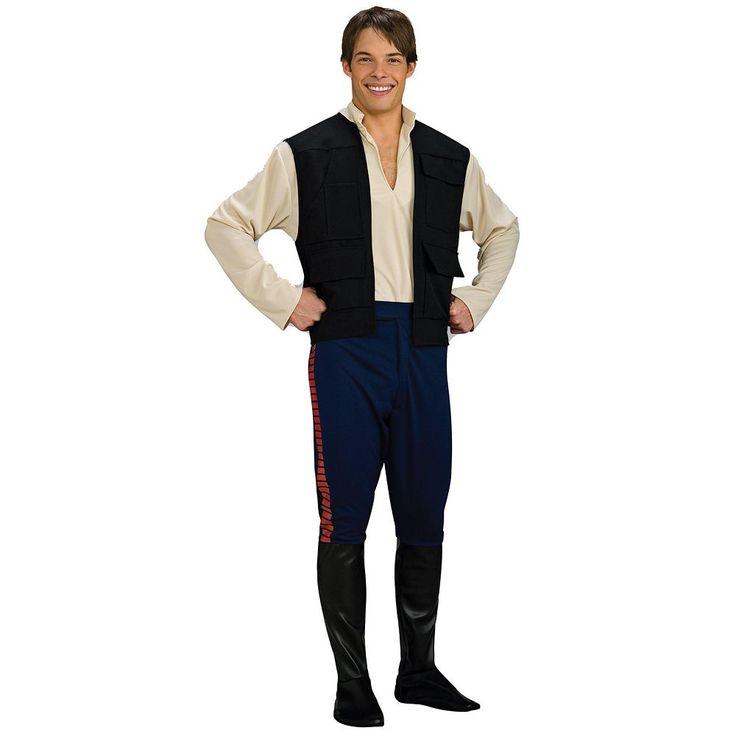 Star Wars Deluxe Han Solo Costume - Adult, Men's, White