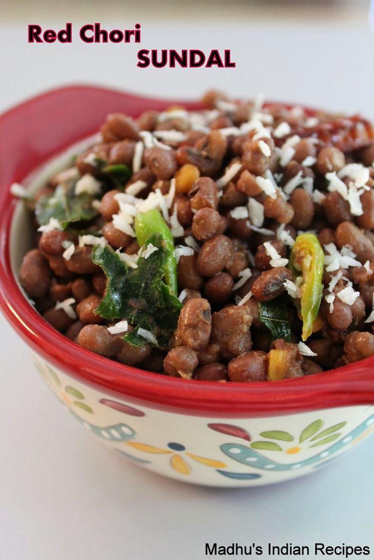 A healthy protein packed Azuki beans salad (Red chori Sundal) http://madhusindianrecipes.blogspot.com/2013/10/red-chori-sundal-azuki-beans-sundal.html