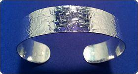 Silversmithing - Hammered Bracelet