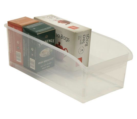 Amalie pull-out organiser from Howard's Storage World.  Fridge/freezer/pantry organisers like this are becoming more common and affordable from storage retailers. They are life-savers in small or awkward spaces like upright freezers.