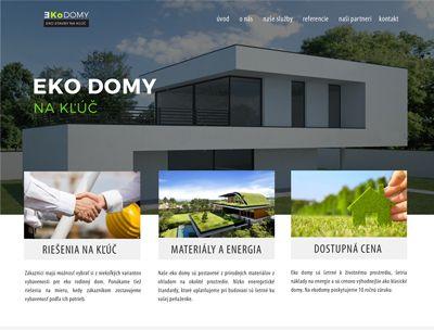 Tvorba web stránky Eko domy