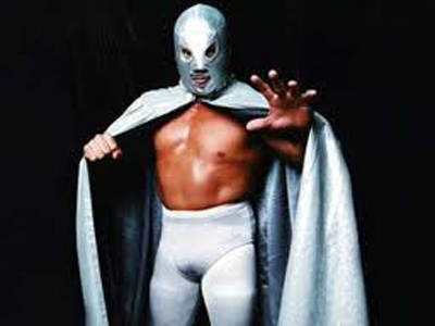 Santo, el Enmascarado de Plata.  Santo, the silver masked fighter. A Mexican icon of lucha libre and movies.