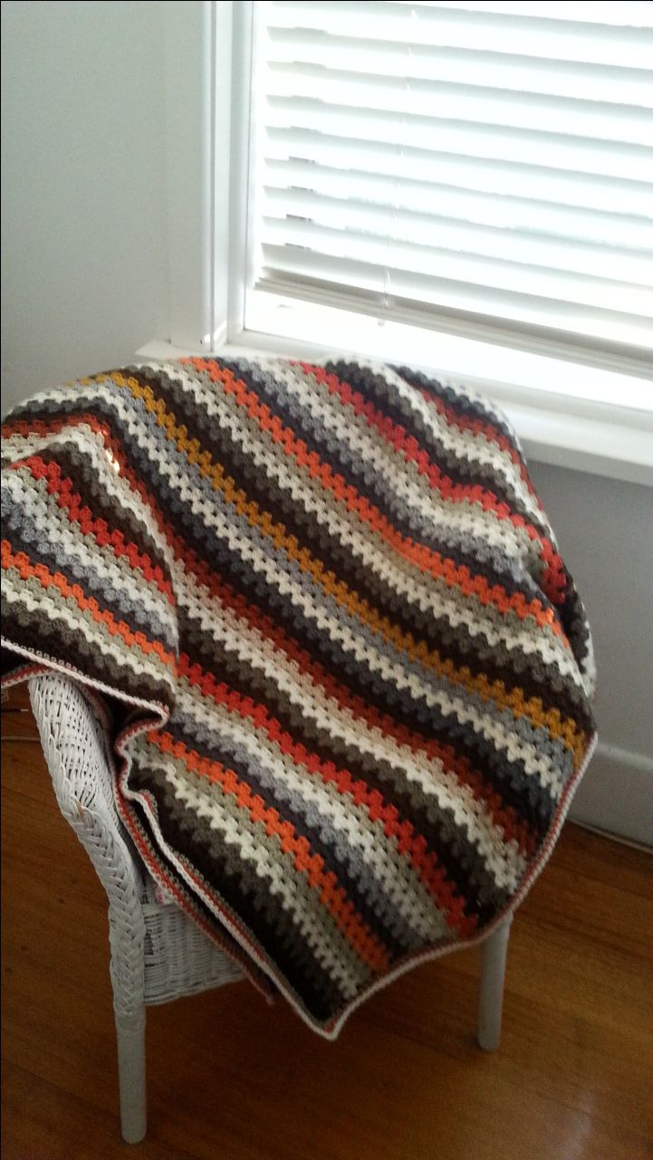 70's blanket ....really happy doing stripes for a change!!!!