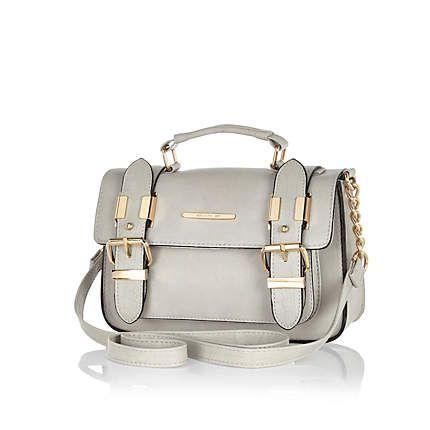 Grey mini satchel #riverisland