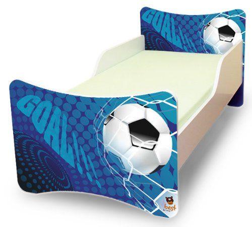 Best For Kids Kinderbett 70x140 Goal + Matratze + Lattenrost + Wandaufkleber