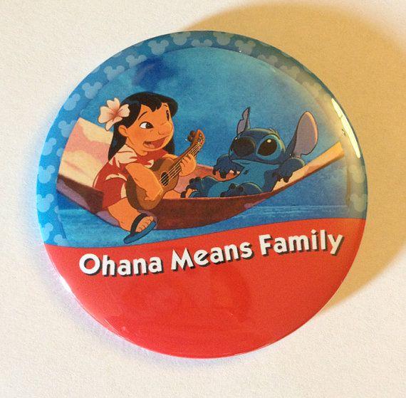 Ohana Means Family I'm Celebrating Button by parkbound on Etsy
