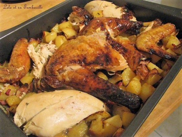 Poulet Roti Au Four Pomme De Terre Poulet Roti Pommes De Terre Au Vin Blanc Recette Poulet Roti Et Pommes De Terre Recettes De Cuisine Poulet Roti