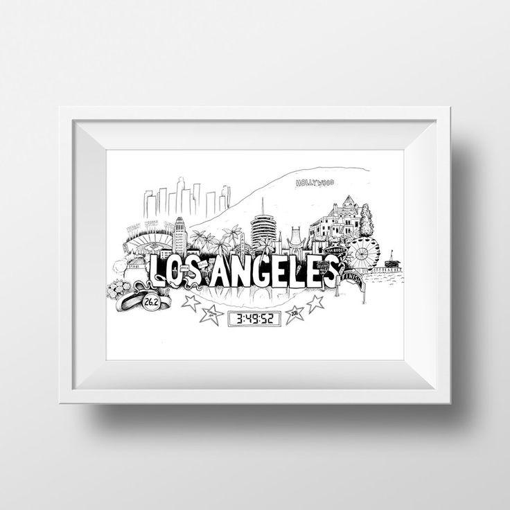 Los Angeles Marathon Print